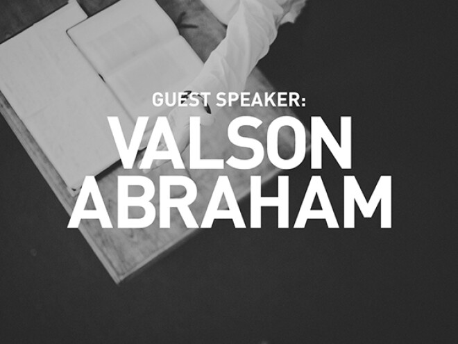 Welcome, Dr. Valson Abraham