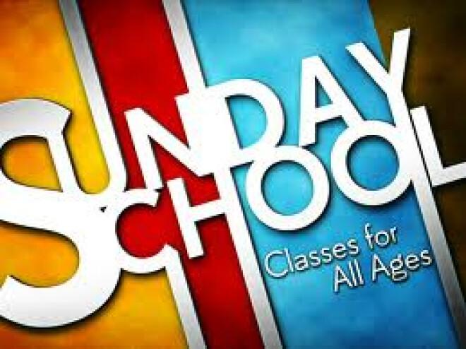 Sunday School Begins This Sunday!